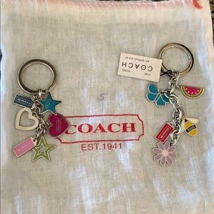 Coach keychains brand new